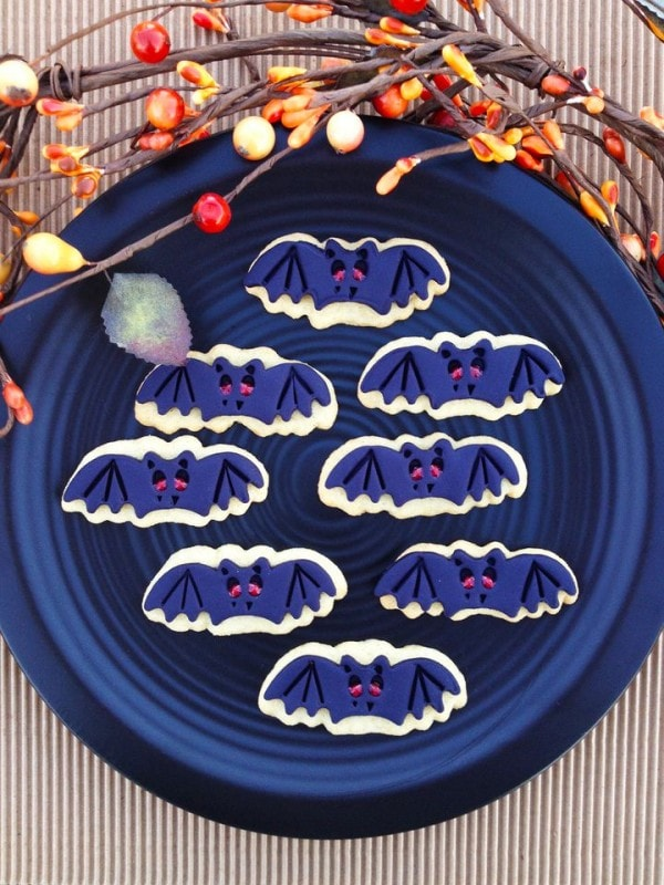 Bat Sugar Cookies Recipe for Halloween