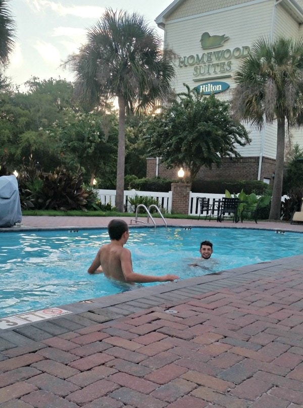 The pool at Homewood Suites Charleston South Carolina #MFRoadTrip