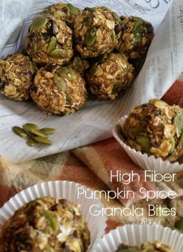 High Fiber Pumpkin Spice Energy Bites Recipe