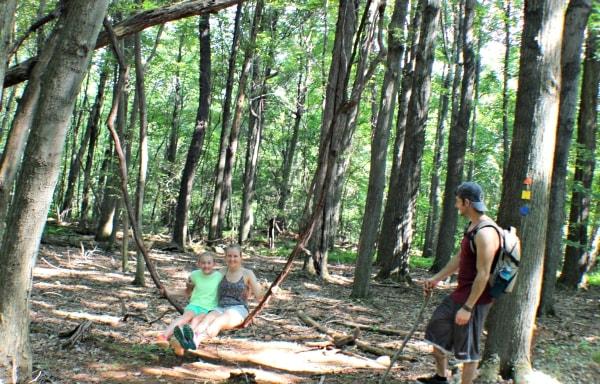 Fun vine swing in the Allegheny Mountains #MFRoadTrip