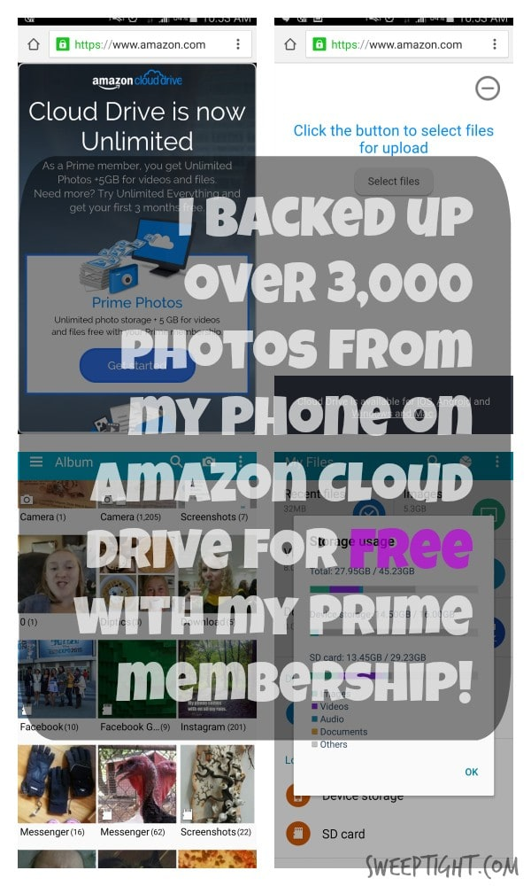 Had no idea I had unlimited storage with my Amazon Prime membership! LOVE IT! Amazon Cloud Drive #AMZNCloudDrive #ad
