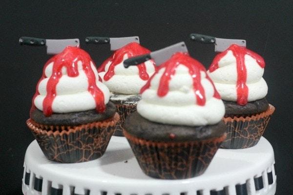 Bloody Knife Halloween Cupcakes Recipe