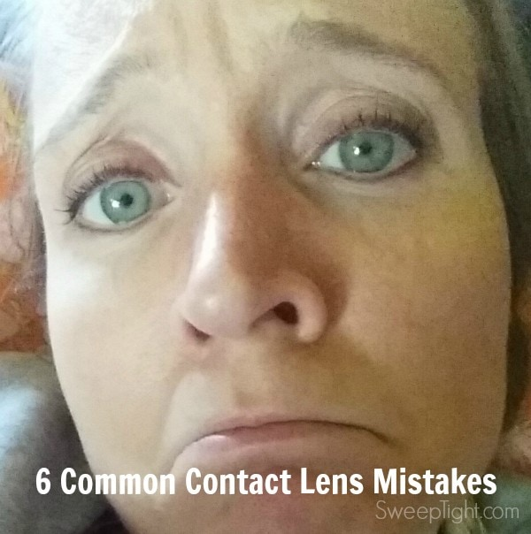 Follow these tips to protect your eyes! Don't make these common contact lens mistakes especially with costume contacts! #AOAhealthyeyes #CleverGirls #ad