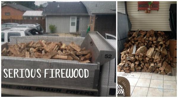 Huge firewood delivery