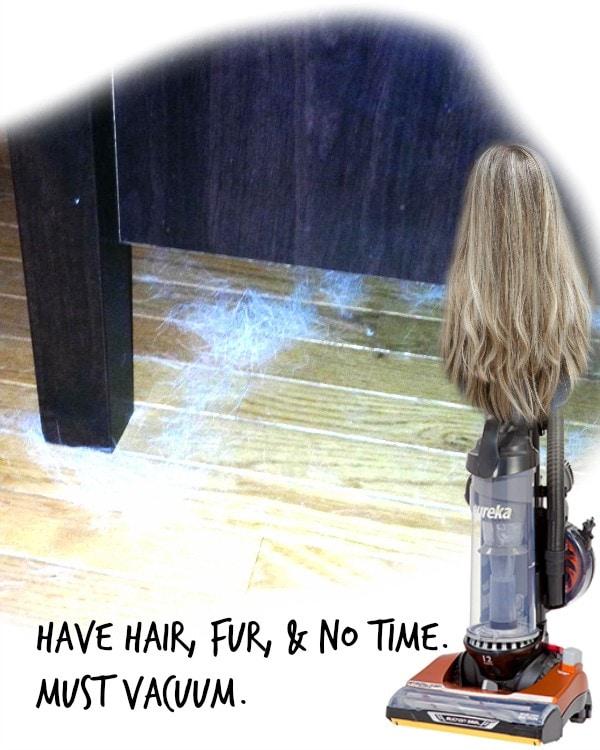 long hair and dog fur = always vacuuming
