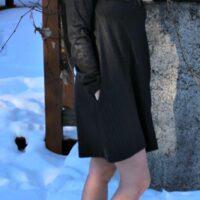 Me wearing Sorel Winter Boots