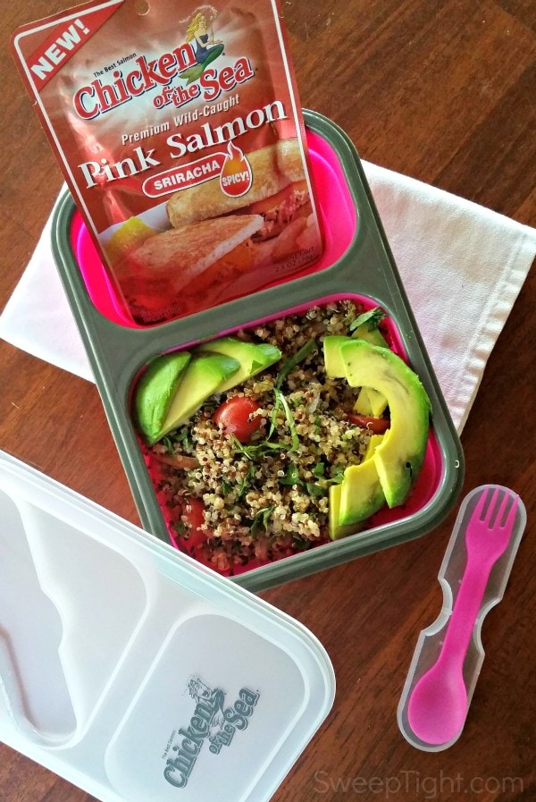 This easy salmon salad recipe is perfect for clean eating on the go. Makes a perfect and satisfying lunch. #PinkUpYourLunch #nationalsalmonday #ad