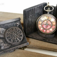 The collectible Starling Steampunk Pocket Watch comes in a limited edition resin box designed by Disney artist Terri Hardin Jackson. Just gorgeous.