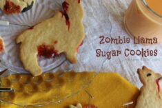 Easy cut out sugar cookies recipe to make zombie llamas! #YUM Perfect Halloween cookies!