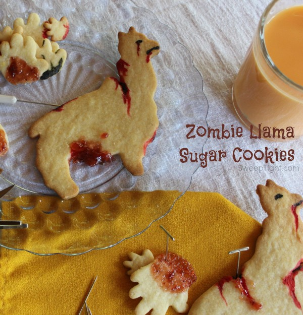 Zombie llama cut out sugar cookies recipe a magical mess trumoo orange scream milk is so fun for easy halloween recipes forumfinder Images