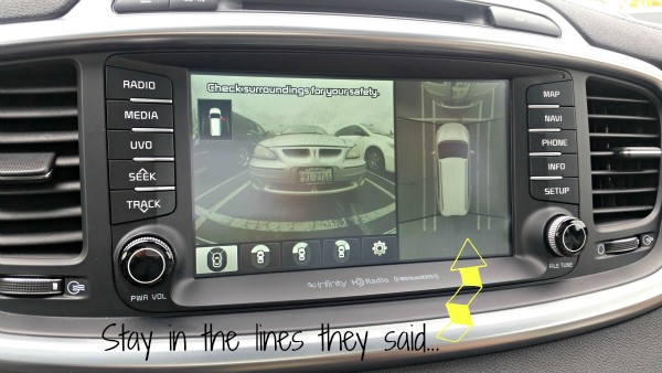 Cameras make you stay in the lines when parking - 2016 Kia Sorento