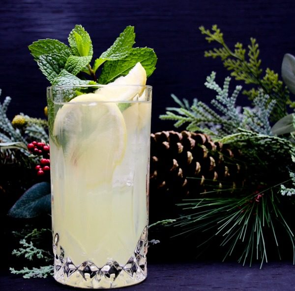 Lemonade Mint Cheer Holiday Cocktail Recipe