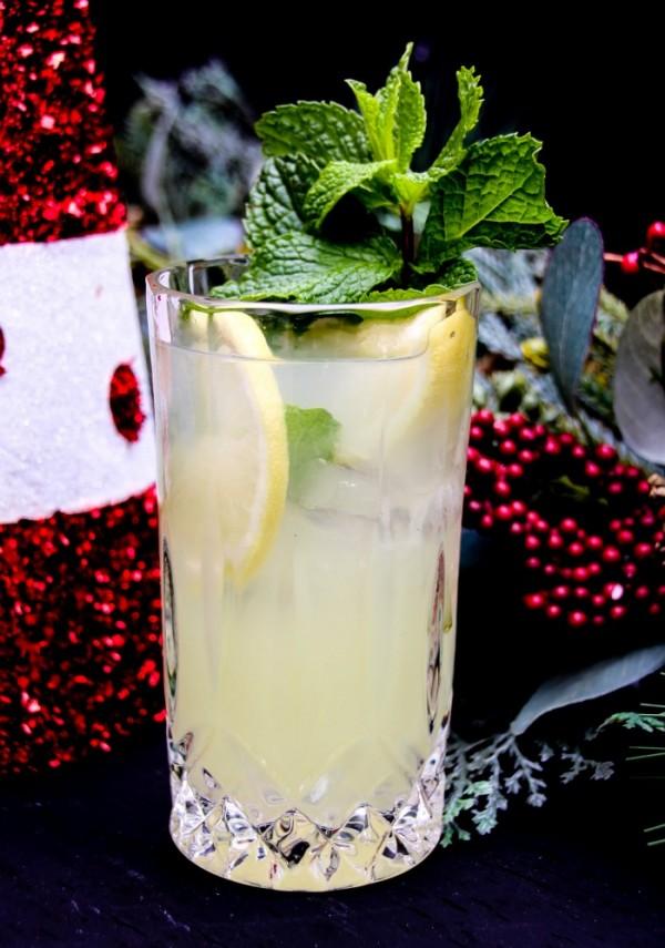 Lemonade Mint Cheer Holiday Cocktail Recipe