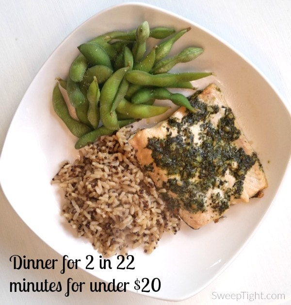 Healthy dinner for two on a budget