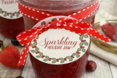 Sparkling Holiday Strawberry Jam Recipe with Printables