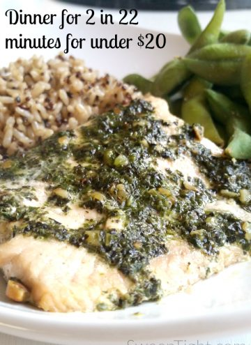 Healthy Dinner for Two in 22 Minutes for Under $20