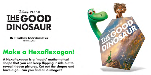 The Good Dinosaur movie printables
