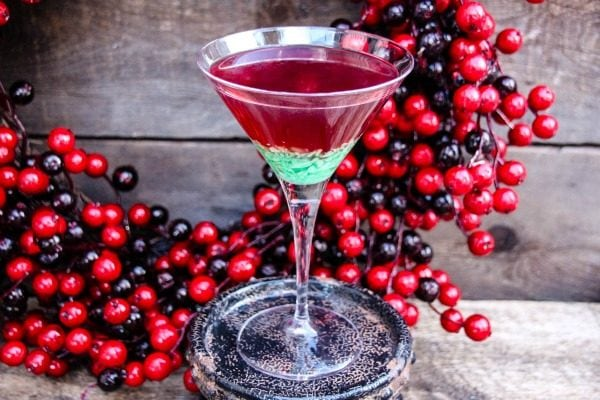 Green Candy Cane Crush Peppermint Martini Recipe