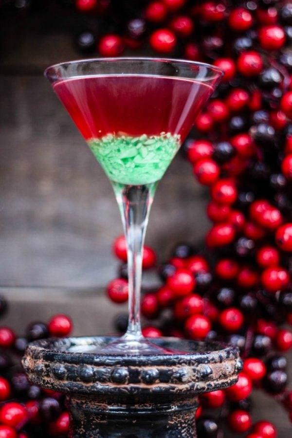 Green Candy Cane Crush Peppermint Martini Recipe
