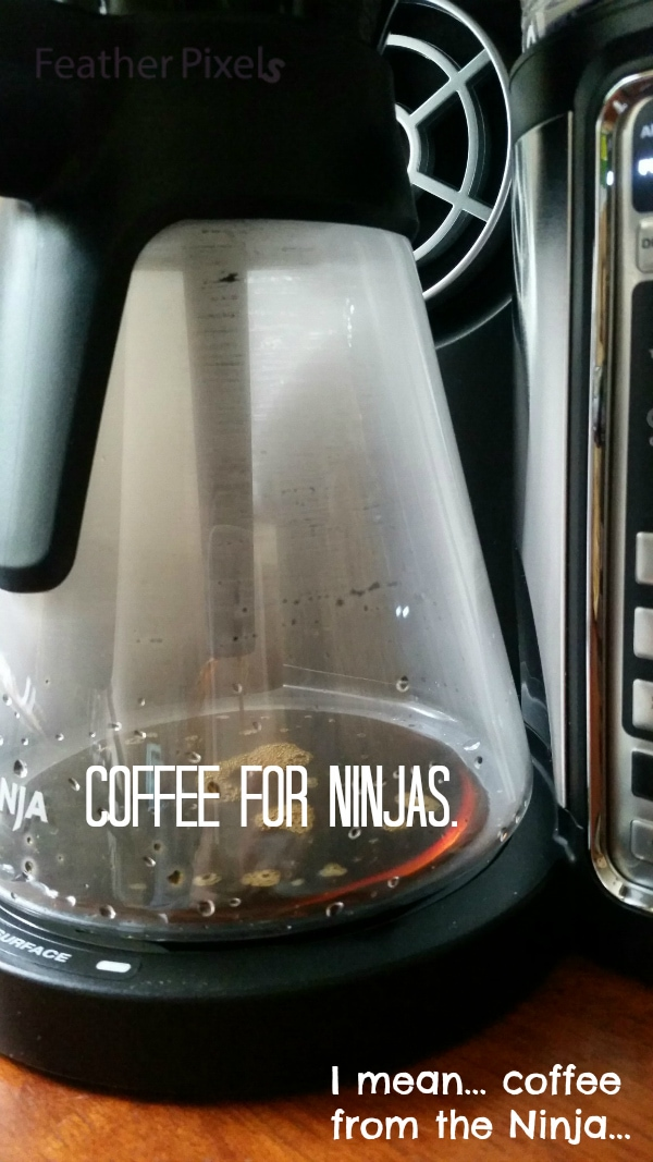 The Ninja Coffee Bar is now in our office. And... we've all turned into Ninjas. True story.