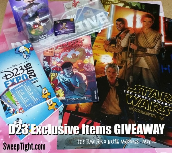 2015 Disney D23 Exclusive Items Giveaway Package