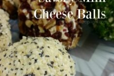 Savory Mini Cheese balls recipe make for quick easy appetizers