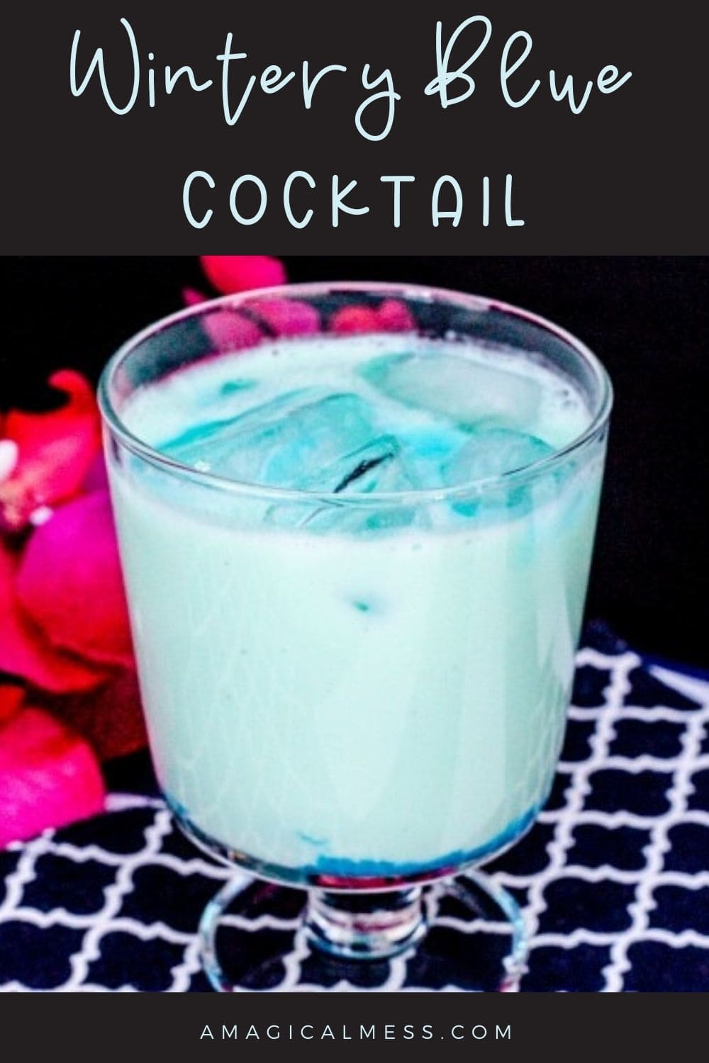 blue mixed drink