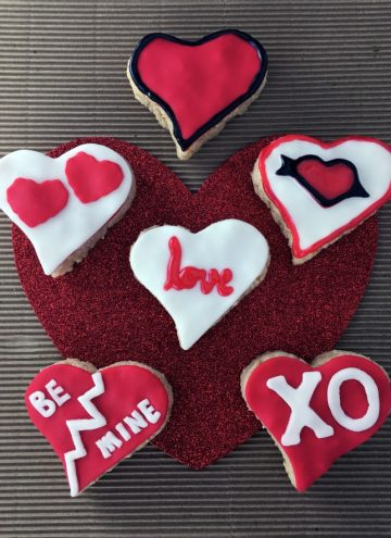 Valentine's Day Heart-Shaped Rice Krispies Treats Recipe