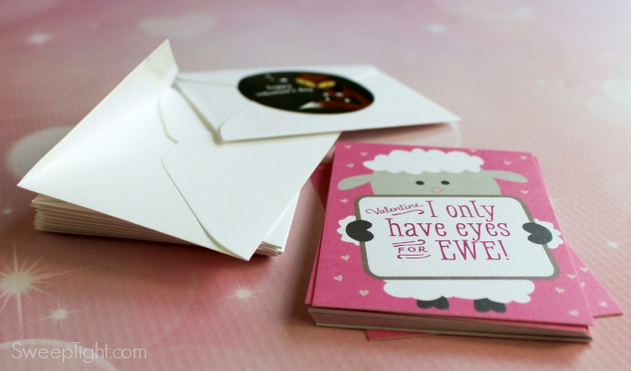 stack of Valentine's day cards