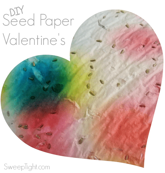 Heart-shaped paper with seeds in it