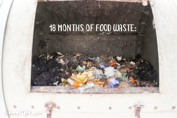 This is what 18 months of food waste looks like! I thought it would be so much more! How to make Compost at Home and Why Everyone Should