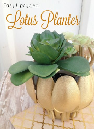 Plastic Spoon Craft - Easy Upcycled Lotus Planter