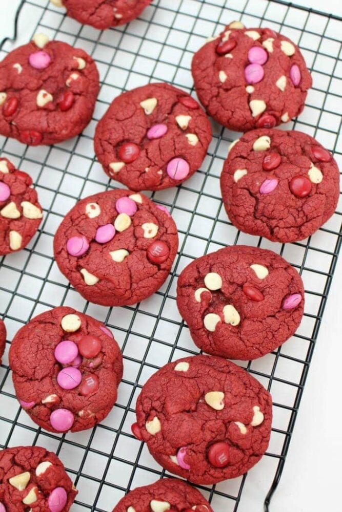 Easy Red Velvet Cookies Recipe - Valentine's Day Cookies