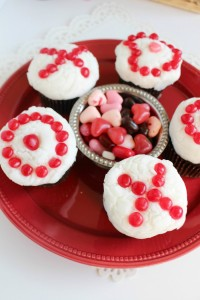 Dark Chocolate Cupcake Recipe - Valentine's Day Cupcakes