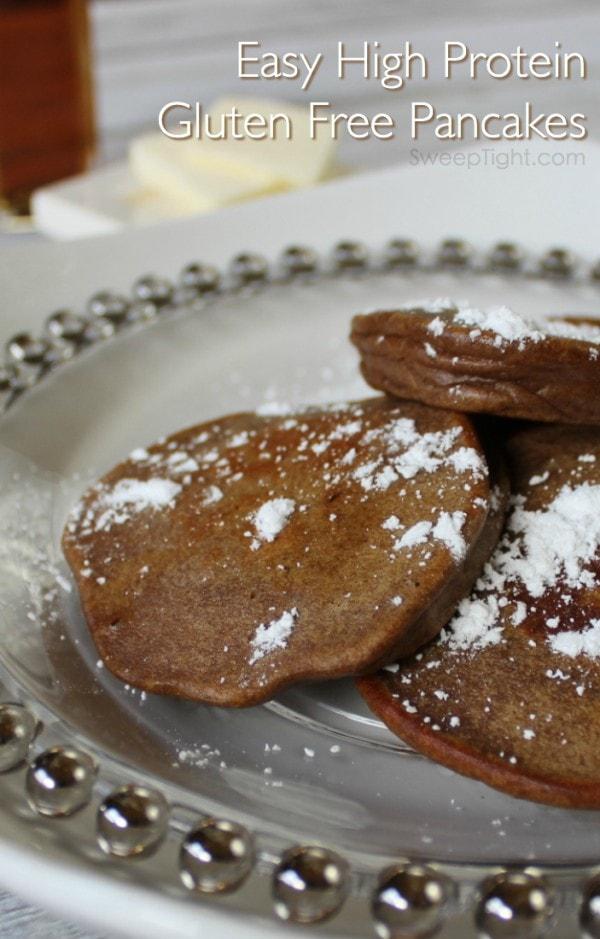 Gluten free pancakes recipe - high protein pumpkin pancakes