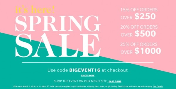 Huge Shopbop Sale