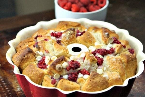 White Chocolate Raspberry Easy Monkey Bread Recipe