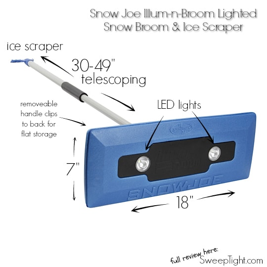 Snow Joe Telescoping Snow Broom Ice Scraper review