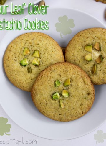 Super Easy Four Leaf Clover Cookies