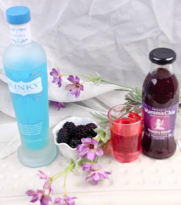 Blackberry and Raspberry Chia Seeds Drink Recipe
