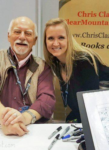 Shelley meets X-Men Writer, Chris Claremont at Chicago Comic Entertainment Expo C2E2