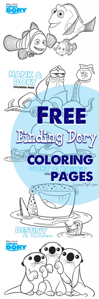 Free Disney coloring pages! #FindingDory #Disney