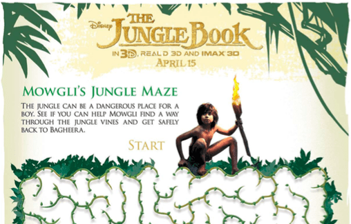 Free Disney Activity sheets The Jungle Book
