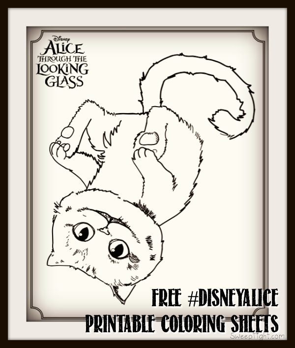 Free Disney coloring pages! Alice Through The Looking Glass printables #DisneyAlice #Disney