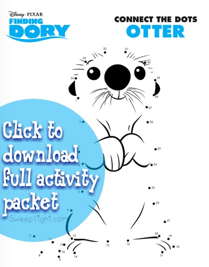 Free Disney activity pages! Finding Dory Connect the Dots