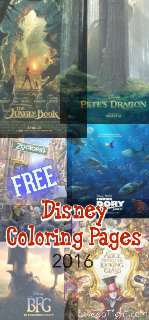 Free Disney Coloring Pages 2016