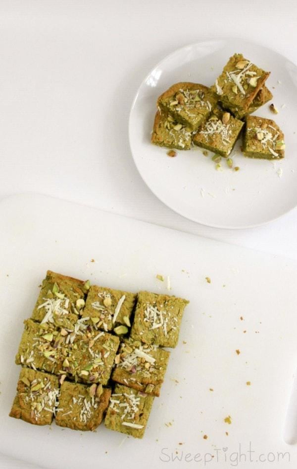 Healthy Dessert Recipe - Gluten Free Pistachio Brownies