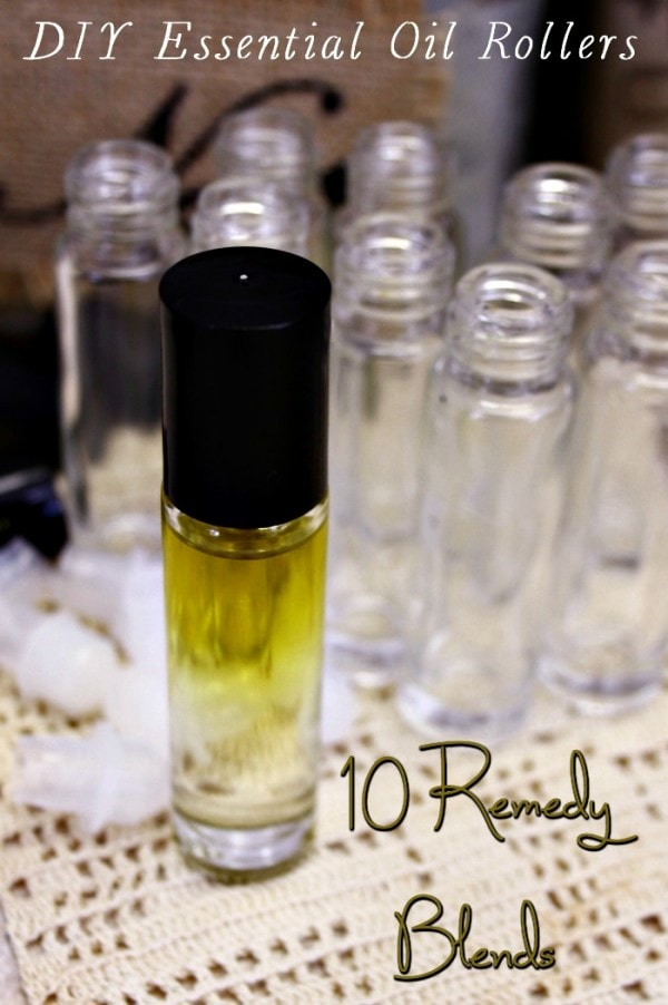 DIY Essential Oil Roller Bottles - 10 Remedy Blends
