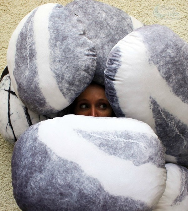 Feeling buried? Being buried in Pebble Pillows is not so bad