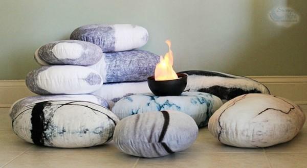 Pebble Pillows pretend campout